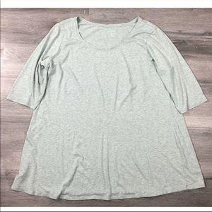 J Jill Pure Jill Ballet Sleeve Tunic Top Size 2X